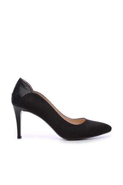 Siyah Kadın Vegan Klasik Topuklu Ayakkabı 723 001 BN AYK Y19