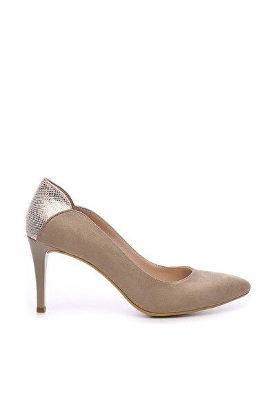 Bej Kadın Vegan Klasik Topuklu Ayakkabı 723 001 BN AYK Y19