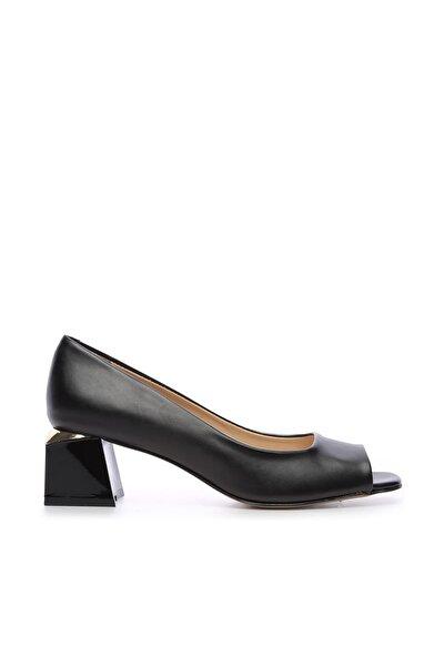 Siyah Kadın Vegan Abiye Ayakkabı 22 6292 BN AYK Y19