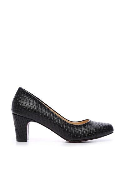 Siyah Kadın Vegan Klasik Topuklu Ayakkabı 723 2032 BN AYK Y19