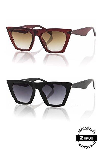 PL8045R01R02 Unisex Güneş Gözlüğü 2'li Ürün