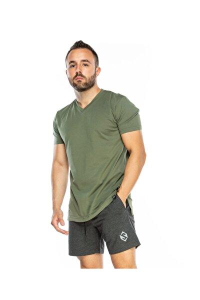 V-neck Erkek Spor Tişört Tshırt