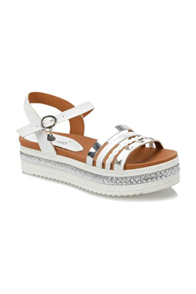 19S-118 Beyaz Kadın Sandalet 100371240