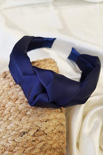 Kadın Lacivert Renk Saten Düğümlü  Taç