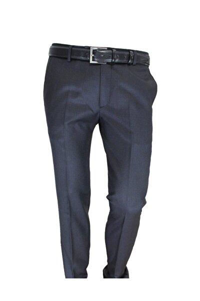 Erkek Pantolon Siyah Çizgili Slim Fit 83159