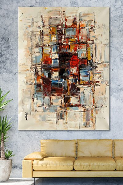 70x100 Renkler Sürreal Sanatsal Kanvas Tablo