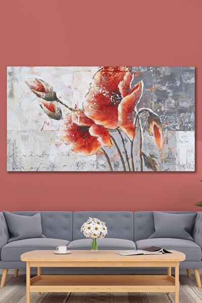 120x60 Dev Boyut Dekoratif Çiçek Kanvas Tablo