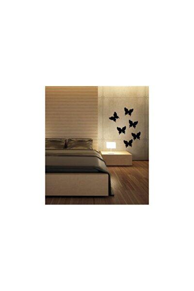 Kelebekler Kadife Duvar Sticker 6 Adet