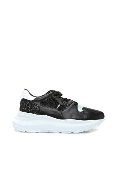 Divarese Hakiki Deri Kadın Siyah Sneaker 7004776