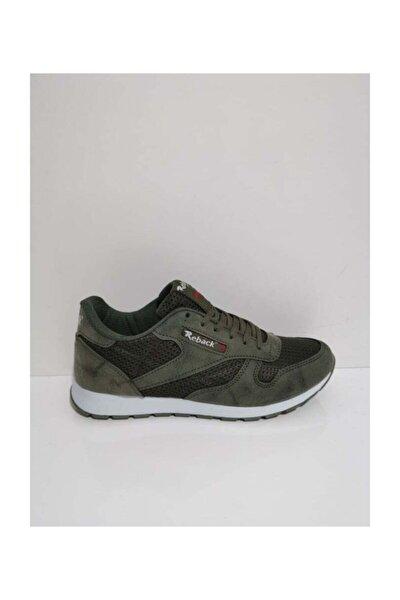 Ortopedik Günlük Yürüyüş Erkek Spor Ayakkabı Sneaker Fileli Haki 45 46 47 Büyük Numara