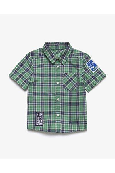 012 Aplike Detaylı Cepli Ekose Gömlek