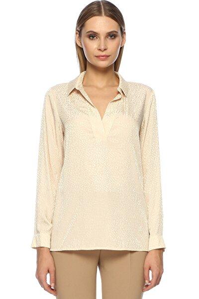 Kadın Regular Fit Ekru Gömlek 1071757