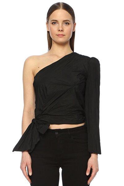 Kadın Tek Omuz Yaka Siyah Bluz 1073390
