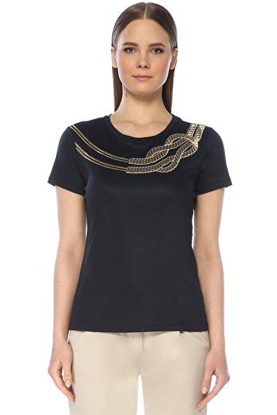 Kadın Regular Fit Lacivert Tshirt 1073506