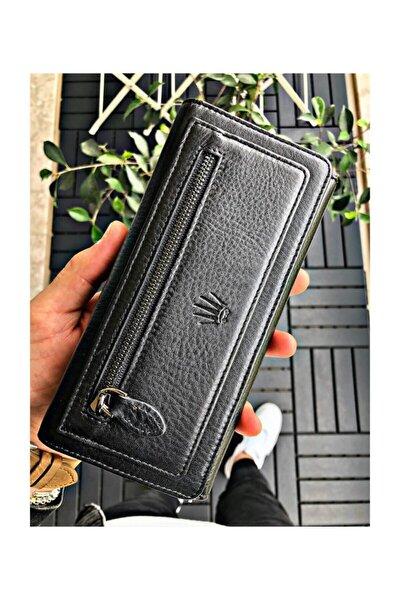 Fıne Black Hakiki Deri Telefon Cüzdanı