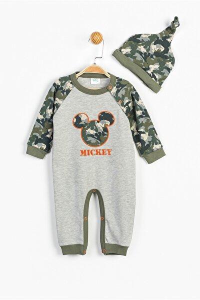 Disney Mickey Mouse Bebek Patiksiz Tulum ve Şapka 13363