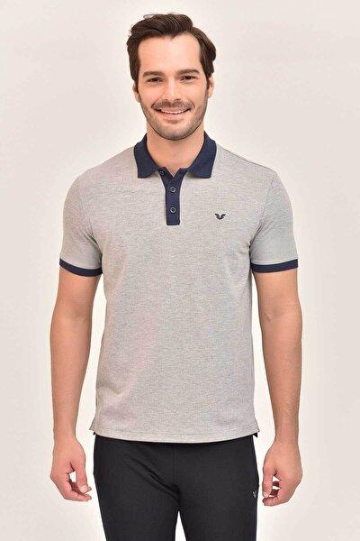 Gri Erkek Polo Yaka T-Shirt GS-8982