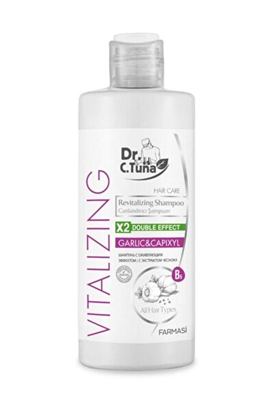 Dr. C. Tuna Vitalizing Tüm Saçlar için Canlandırıcı Sarımsaklı Şampuan 225 ml