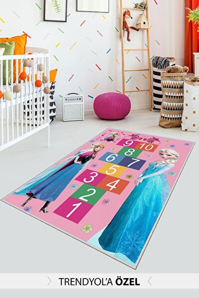 Dekoratif Özel Tasarım Ince Yıkanabilir Leke Tutmaz Modern Çocuk Halısı