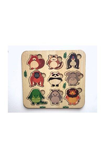 Orman Hayvanlarını Tanıyalım Ahşap Oyuncak Puzzle