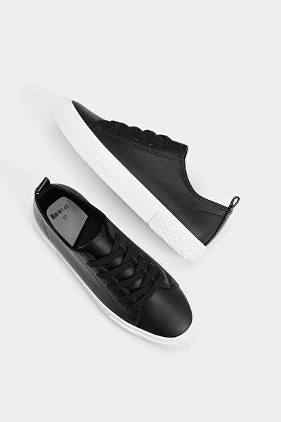 Kadın Siyah Siyah Bağcıklı Spor Ayakkabı 15931031