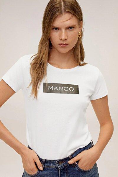 Kadın Beyaz Pamuklu Logolu Tişört 67000604