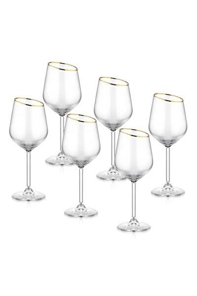 Gina Şarap Kadehi 6'Lı Set  - Gold