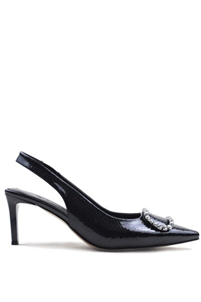 Amata Stylısh Black Fashıon Topuklu Ayakkabı