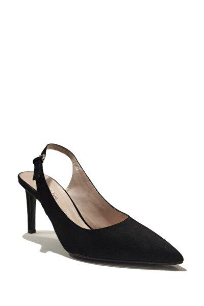 Kadın Süet Bilekten Bağlamalı İnce Topuk Ayakkabı