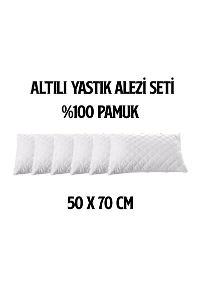 6'LI FERMUARLI KAPİTONELİ YASTIK ALEZİ / YASTIK KORUYUCU