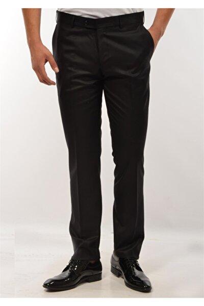 Erkek Siyah Klasik Kesim Kumaş Pantolon
