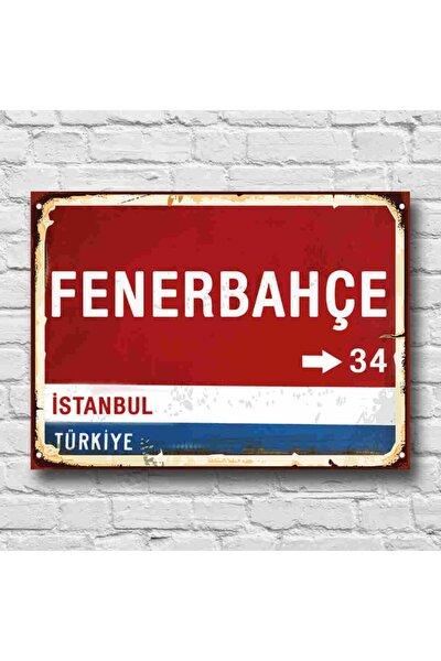 Fenerbahçe Yön Tabelası Retro Tablo