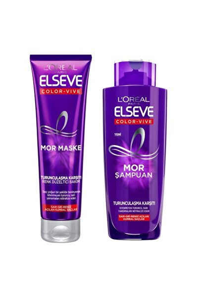 Loreal Color-Vive Silver Mor Şampuan 200 ml + Maske 150 ml