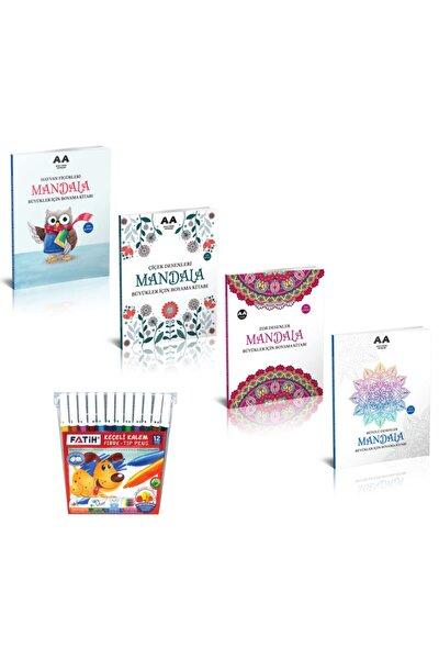 Mandala Boyama Kitabı Büyükler Için Set