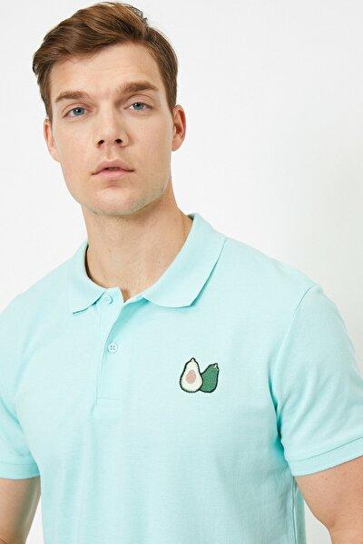 Erkek Yeşil Polo Yaka T-Shirt 0YAM11632GK