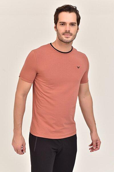 Kiremit  Pamuklu Erkek T-Shirt ES-2374