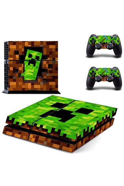 Minecraft Playstation 4 Fat Sticker Kaplama