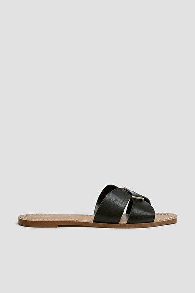 Kadın Siyah Halkalı Siyah Bantlı Sandalet 11559540