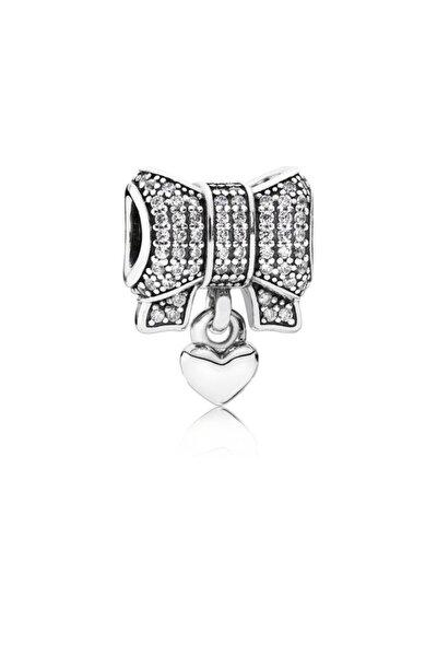 Kar Tanesi Kalbi Gümüş Charm