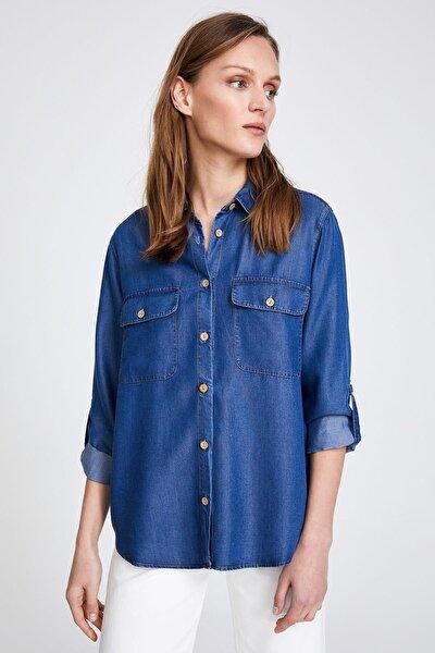Mavi Tencel Denim Gömlek