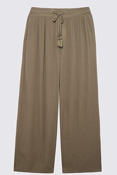 Kadın Yeşil Krinkle Pantolon T52009893