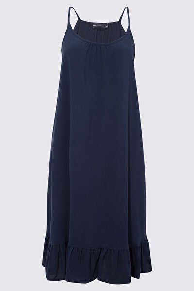 Kadın Lacivert Askılı Plaj Elbisesi T52008543
