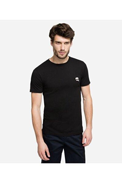 Sıfır Yaka Siyah Erkek T-shirt