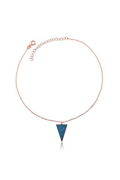 Mavi Üçgen 925 Ayar Gümüş Halhal