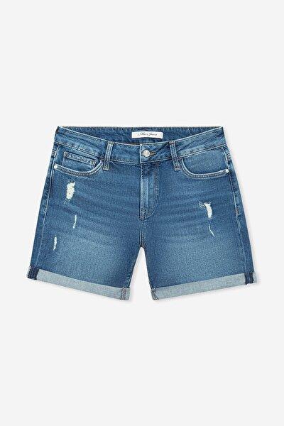 Kadın Pixie Vintage Jean Şort 1437026053