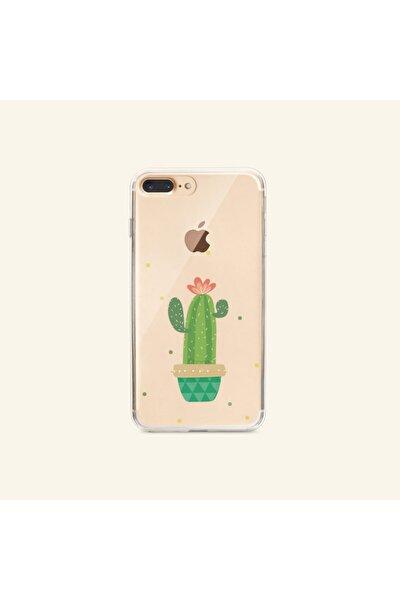 Iphone 8 Plus Peace Desenli Şeffaf Telefon Kılıfı