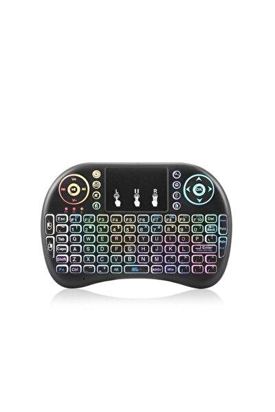 Mini Klavye Mouse Işıklı Smart Tv Box Pc Şarjlı