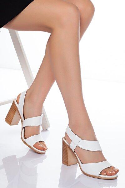 Hakiki Deri Kadın Ayakkabısı Topuklu Ayakkabi