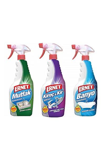 Temizlik 3'lü Set ( Kir&kireç, Banyo, Mutfak ) Özel Paket