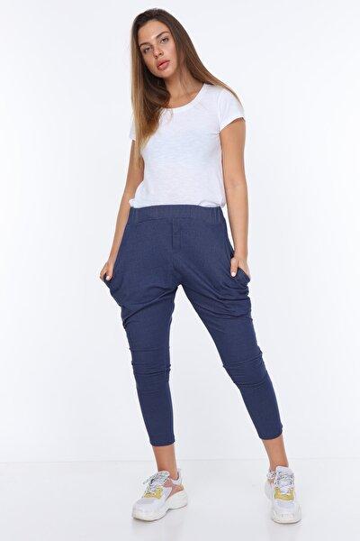 Kadın Pantolon Full Likralı Belden Ayarlı